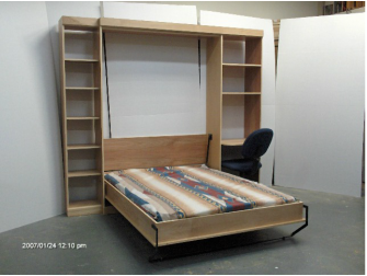 murphy bed with desk