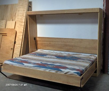 Queen horizontal panel bed wallbeds by bergman murphy beds wall queen horizontal panel bed do it yourself kit solutioingenieria Image collections